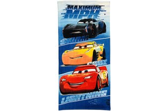 (3 Blue) - CARS Storm, Cruz and Lightning Maximum MPH Blue Ombre Boys Kid Towel