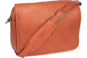 (One Size, Saddle) - Claire Chase 167E-saddle Luxury Messenger Briefcase - Saddle