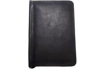 (Black Ebony) - TPK Golf Accessories-Golf Gifts   Leather Golf Scorecard Holder and Yardage Book Cover - Golf Score Book   Made in USA with Full Grain Leather