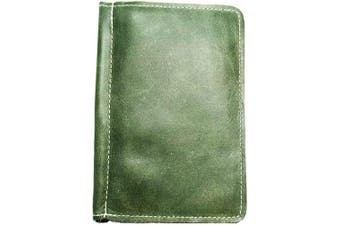 (Fairway Green) - TPK Golf Accessories-Golf Gifts   Leather Golf Scorecard Holder and Yardage Book Cover - Golf Score Book   Made in USA with Full Grain Leather