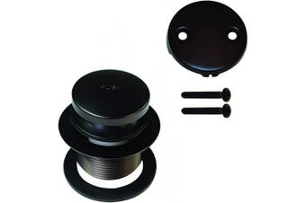 (Oil-Rubbed Bronze) - Westbrass R93-2-12 Tip Toe Tub Trim Set with Two-Hole Overflow Faceplate, Oil Rubbed Bronze