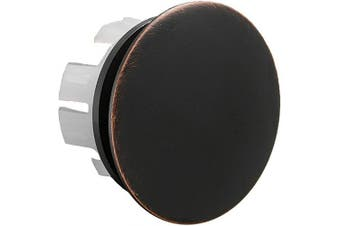 (Bronze) - BWE Sink Basin Trim Overflow Cover Brass Insert in Hole Round Caps Oil Rubbed Bronze Finish