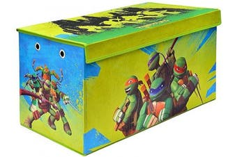 (Tmnt Soft Storage) - Teenage Mutant Ninja Turtles Folding Soft Storage Bench, Perfect Toy Box or Chest for Playrooms, Officially Licenced Product