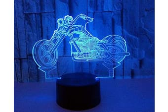 (Motorcycle) - AZIMOM 3D Illusion Night Light, 7 Colours Changing Nightlight for Kids with Smart Touch Optical Illusion Bedside Lamps Bedroom Home Decoration for Kids Boys & Girls Women Birthday Gifts (Motorcycle)