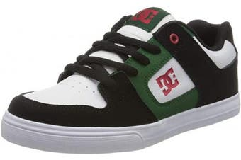 (4 UK, White Grey Green Ggb) - DC Shoes Boys' Pure Low-Top Sneakers