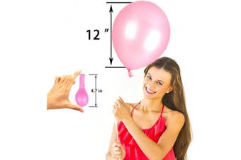 (12 Inch / 30 cm, White Pink) - AZOWA Pink White Latex Balloons 30cm Party Decorations Pack of 100 Balloons Great for Birthday Party Baby Shower Wedding Celebrate Decorations