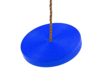 (Blue) - Tree Swing Disc Seat Adjustable Rope Swing Holds Up to 90kg. Outdoor Sport for Kids, Teens, and Adults