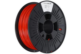 (Red) - PrimaValue PLA Filament - 2.85mm - 1 kg spool - Red