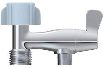 (2.4cm  x 2.4cm x 3/20cm  or (2.2cm  x 2.2cm x 3/20cm )) - Hibbent Bidet T adapter Toilet Connector with ON/OFF Valve - 2.4cm x 2.4cm x 1cm - Chrome Finished