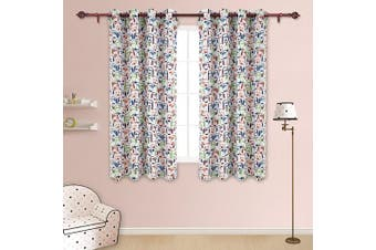 (130cm  x 140cm , Puppy) - Deconovo Kids Room Sunlight Block Curtain Panels Thermal Insulated Room Darkening Dogs Print Window Drapes for Boys and Girls 130cm x 140cm 2 Panels