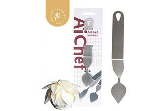 (Stainless steel, Medium leaf knife (round leaf)) - AiChef Chocolate Mould, Leaf Feather Knife, Mousse Cake Baking Tool (Stainless Steel, Medium Leaf Knife (Round Leaf))