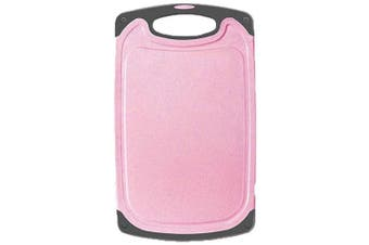 (M:(24cm  x 40cm ), Pink) - AINAAN Kitchen Cutting Board,With Non-Slip Feet and Juice Grooves, Easy Grip Handle, Dishwasher Safe, BPA Free, M:(24cm x 40cm ), Pink