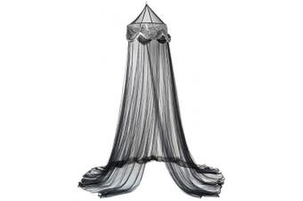 (Black/sliver) - OctoRose Sequins Bed Canopy Mosquito Net for All Size Bed, Dressing Room, Out Door Events (Black/Sliver)
