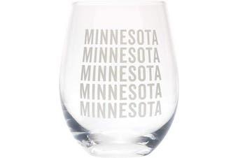 (Minnesota Grey) - Minnesota Repeating Grey 470ml Glass Wine Tumbler
