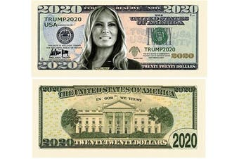 (1) - Melania Trump 2020 Re-Election Presidential Dollar Bill - Limited Edition Novelty Dollar Bill - Keep America Great - Great Gift for Fans of Donald and Melania Trump (1)