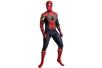 (Men: Small) - N/A The Iron Spider Costume - Zentai For Men, Women, Children, Unisex - Fancy Dress Outfit Christmas Halloween (S)