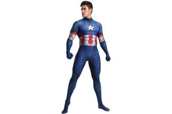 (Men: Small) - N/A Captain America 2 Costume - Zentai For Men, Women, Children, Unisex - Fancy Dress Outfit Christmas Halloween (S)