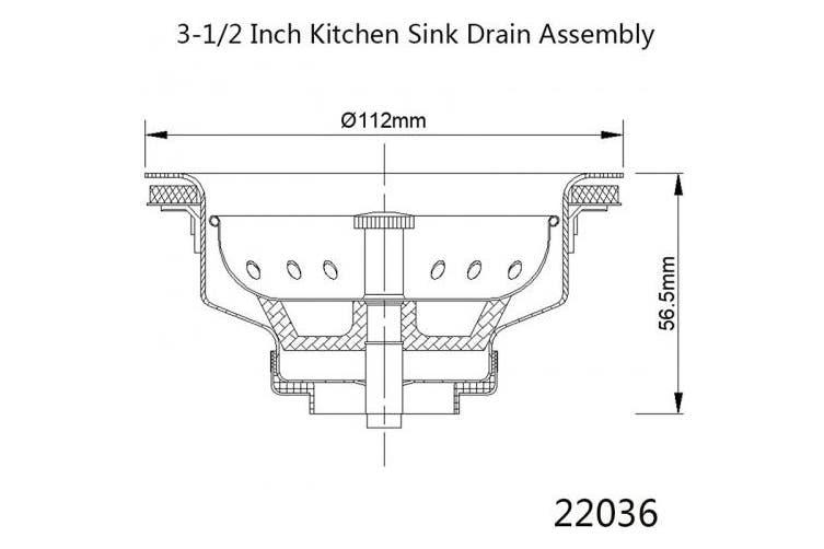 Silver Kone 8 9cm Kitchen Sink Drain Assembly With Strainer Basket Stopper All Stainless Steel Durable And Rustproof Matt Blatt