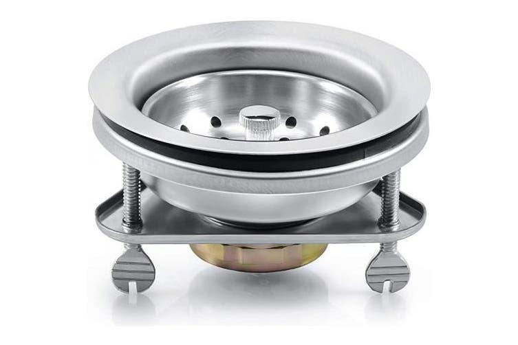 Silver Triangular Base Kone 8 9cm Kitchen Sink Drain Assembly Strainer Basket Stopper 304 Premium Stainless Steel Kitchen Sink Drain Kit With Triangular Base Kogan Com