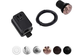 (SHORT/5.1cm , Copper Chrome) - CLEESINK Garbage Disposal Air Switch Kit Sink Top Switch, Copper Chrome, SHORT/5.1cm Button