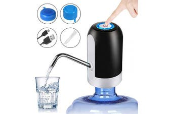(Black) - Water Bottle Pump 18.9l - CHIVENIDO Drinking Water Pump for 18.9l Bottle with Water Bottle Caps 3 to 18.9l Reusable Screw Top or Crown Tops USB Charging Automatic Water Jug Dispenser for Home
