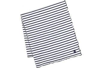 (Baby, Navy/White Stripe) - Coolibar Women's Uv Sun Blanket