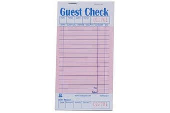(Original Version) - Royal Pink Guest Cheque Board, 1 Part Booked with 15 Lines, Package of 10 Books