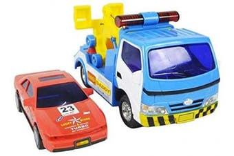 (Police Wrecker & Car) - Big Daddy Police Wrecker Truck and Toy Car Combo Set Tow Truck Toy Includes A Tyre Plate for Safe Towing