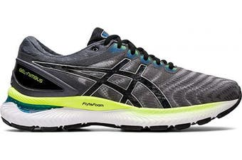 (8.5 UK, Piedmont Gray Black) - ASICS Men's Gel-Nimbus 22 Running Shoe