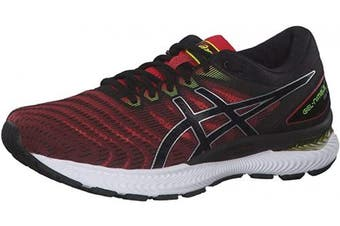 (11.5 UK, Classic Red Black) - ASICS Men's Gel-Nimbus 22 Running Shoe