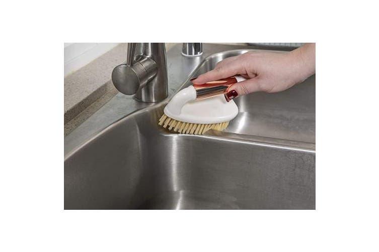 (Heavy Duty Scrub Brush) - Evriholder Copper Lane Cleaning, Elegant Farmhouse Style Heavy Duty Brush