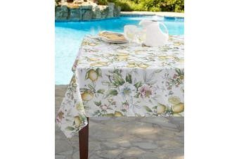 (150cm  X 260cm  Rectangular, Limona) - Benson Mills Indoor Outdoor Spillproof Tablecloth for Spring/Summer/Party/Picnic (Limona, 150cm X 260cm Rectangular)