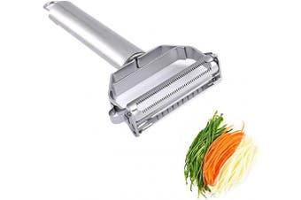 TOONEV A1001 Stainless Steel Peeler Julienne & Vegetable Peeler Multi-functional Double-sided Blade Vegetable Cutter and Fruit Slicer Dual Blade