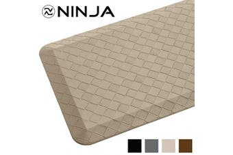(43cm  x 60cm , Beige) - Ninja Brand Premium Anti-Fatigue Comfort Mat, 43cm x 60cm , Ergonomically Engineered, Extra Support Floor Pad, Phthalate Free, Commercial Grade, for Kitchen, Gaming, Office Standing Desk Mats, Beige