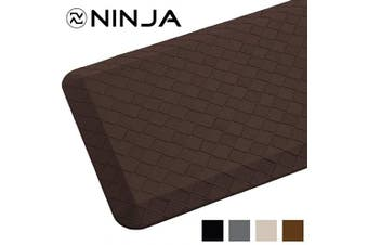 (43cm  x 60cm , Brown) - Ninja Brand Premium Anti-Fatigue Comfort Mat, 43cm x 60cm , Ergonomically Engineered, Extra Support Floor Pad, Phthalate Free, Commercial Grade, for Kitchen, Gaming, Office Standing Desk Mats, Brown