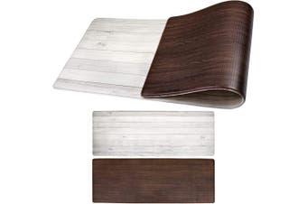 (120cm  x 44cm , Woodgrain) - OPUX Anti Fatigue Comfort Floor Mat | Standing Mat for Kitchen Home Office Desk | Reversible Decorative Ergonomically Engineered Rug | Non-Slip Waterproof Easy to Clean | Woodgrain, 120cm x 44cm