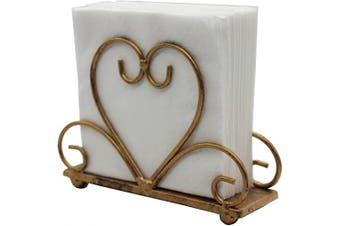 (Bronze) - Metal Table Napkin Holder Freestanding Tissue Dispenser, Bronze