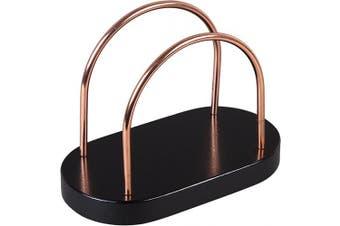 (Chestnut Wood, Black) - Creative Home 50304 Chestnut Wood Napkin Holder, 18cm - 0.6cm x 10cm x 13cm - 0.6cm , Black