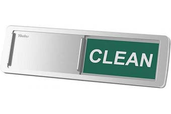 (Silver) - Premium Dishwasher Magnet Clean Dirty Sign, iRush Non-Scratching Backing / 3M Sticky Tab Adhesion, Sliding Indicator Works for Dishwashers, Reminder Tells Whether Dishes Are Clean or Dirty - Silver