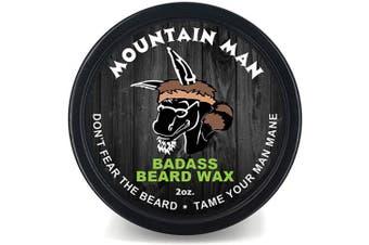 (The Mountain Man, 60ml) - Badass Beard Care Beard Wax For Men - Scent - Softens Beard Hair, Leaves Your Beard Looking And Feeling More Dense 60ml The Mountain Man