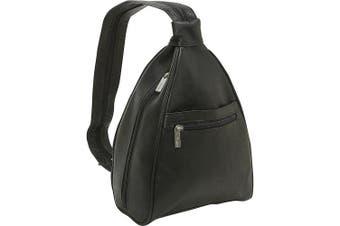 (Black) - Womens Sling Back Pack