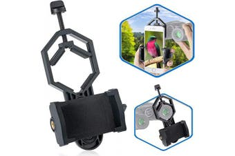 BNISE Universal Cell Phone Adapter Mount, 360°Rotatable Compatible with Binoculars Spotting Scope Telescope and Microscope, for Smartphone Telescope Tccessories Record the Nature of the World