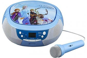 Ekids Frozen 2 CD Boombox with FM Radio & Real Microphone FR-430V2
