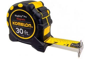 (9.1m - Blade) - Komelon 7130 Monster Maggrip 9.1m Measuring Tape with Magnetic End