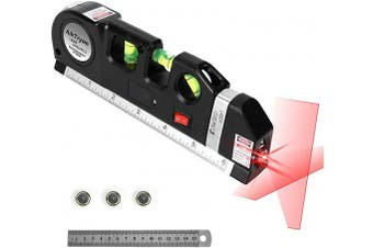Laser Level Line Tool, Multipurpose Laser Level Kit Standard Cross Line Laser level Laser Line leveller Beam Tool with Metric Rulers 8ft/2.5M for Picture Hanging cabinets Tile Walls by AikTryee.