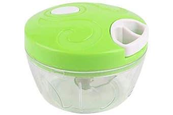 (2019, Green) - AINAAN Manual Food Chopper,Cooking Garlic Cutting Machine Mincers Ground Meat Vegetables Salad Cutter Kitchen Artefact, 2019, Green