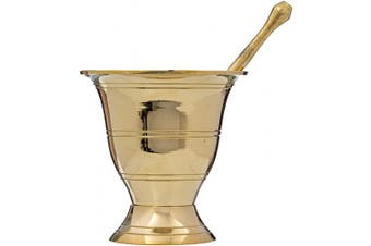 (Solid Brass) - Simple and Solid Brass Mortar and Pestle