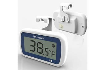 (1) - Refrigerator thermometer Fridge and freezer thermometer - Refrigerator Digital thermometer in freezer thermometer Room thermometer,Dust and Waterproof,Alarm,Easy, Light-sensitive large Display