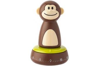 (Monkey Timer, Brown) - Joie Monkey Kitchen Timer, 60-Minute Mechanical, 10cm x 6.4cm