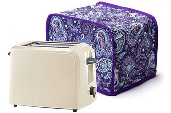 Cotton Quilted 2 Slice Toaster Cover Anti Fingerprint Protection For Toaster Oven Appliance Dust Proof Cover - Machine Washable CYFC323